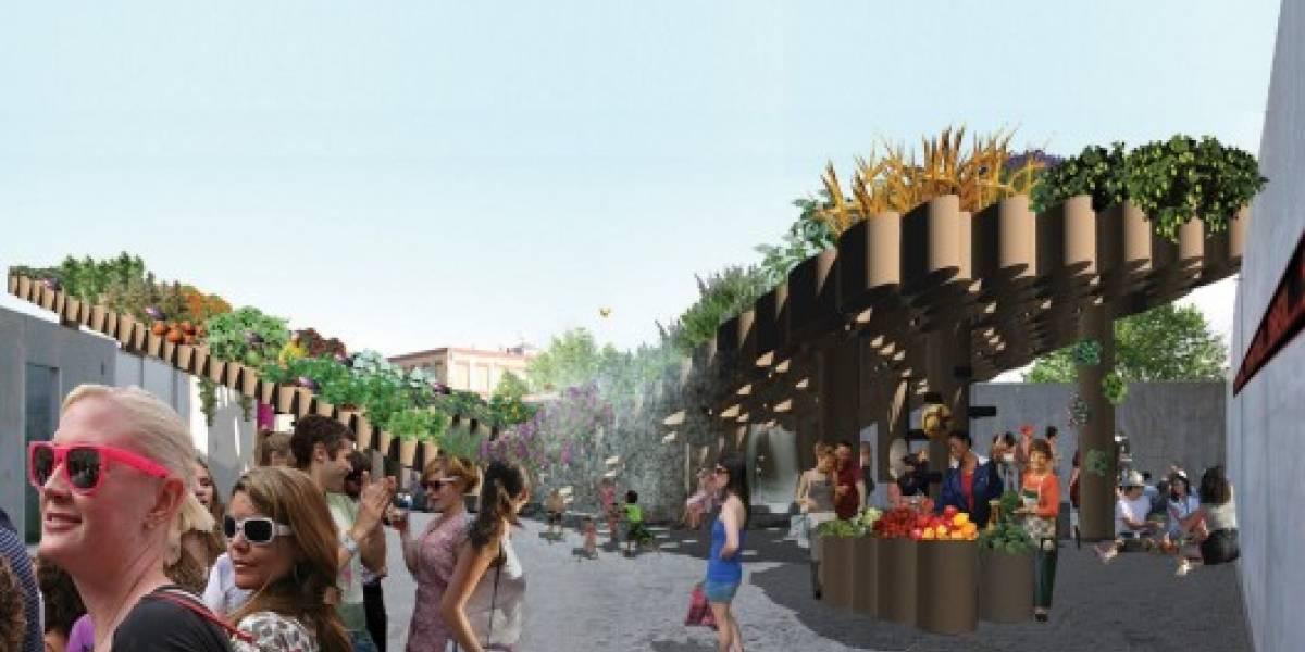 Cubierta eco sustentable en el PS1 del MoMA