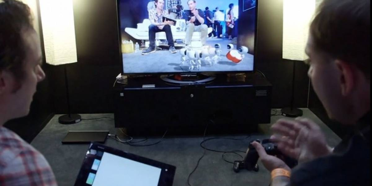 Mira esta demostración de PS4 usando PlayStation Camera y un tablet #E3