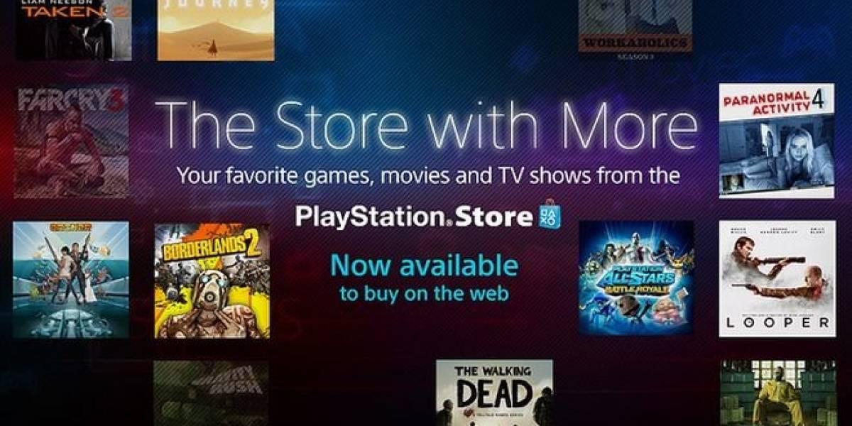 Ya está en línea la versión web de la PlayStation Store