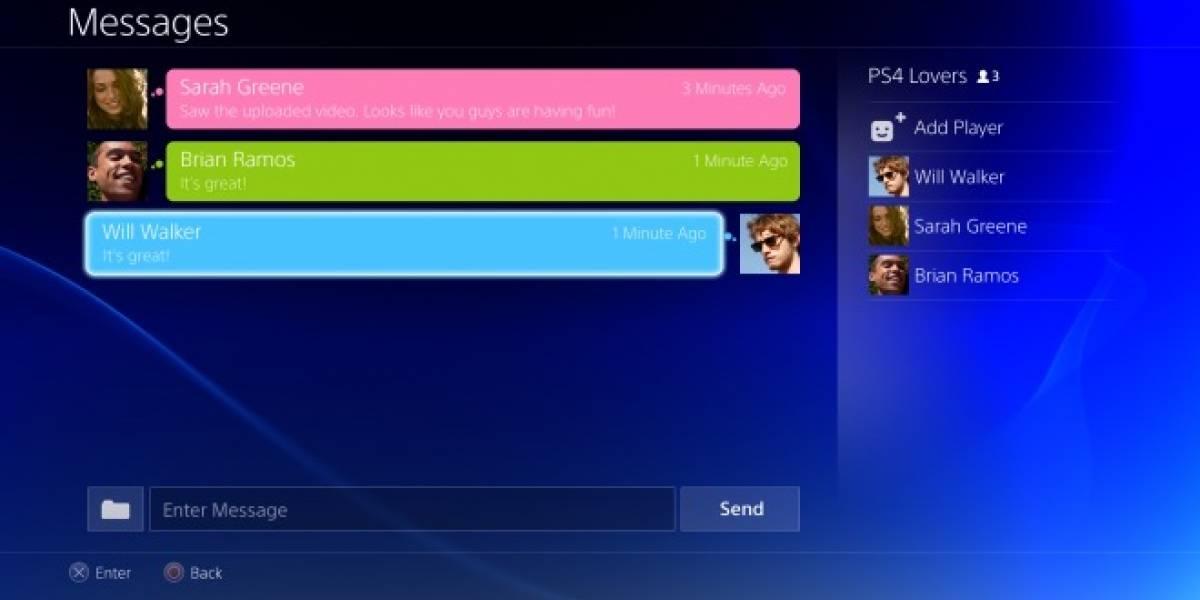 PlayStation 4 tendrá chat grupal gratuito y permitirá hasta 2000 amigos