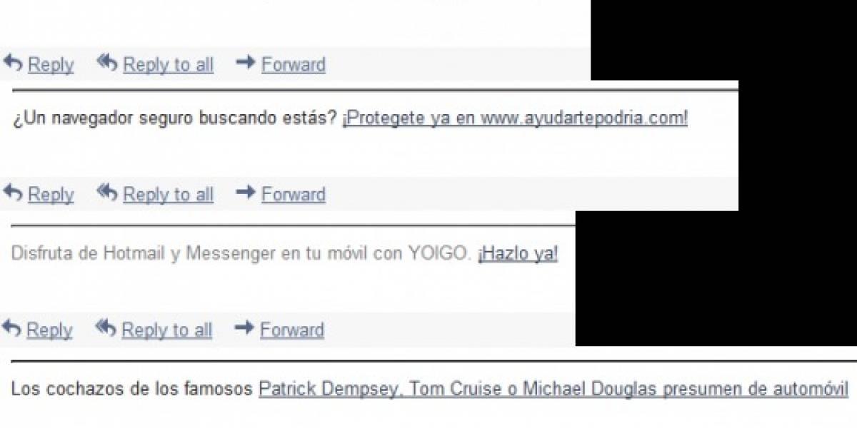 Microsoft por fin desechará firma-publicidad de Hotmail