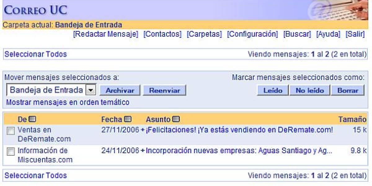 PUCMail de la Universidad Católica se cambia a Gmail (update)
