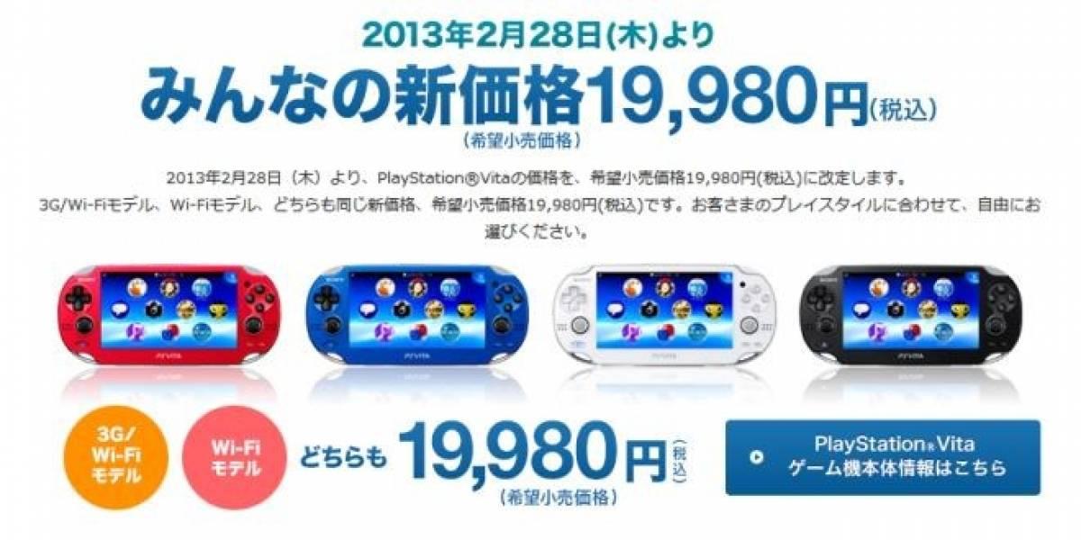 PlayStation Vita baja oficialmente de precio en Japón