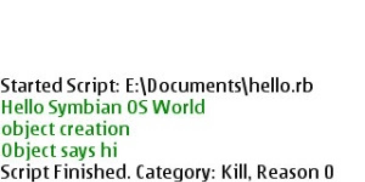 Nueva versión de Ruby para Symbian S60