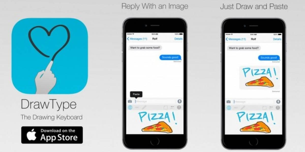 DrawType es un teclado para iOS diseñado para que dibujes tus mensajes