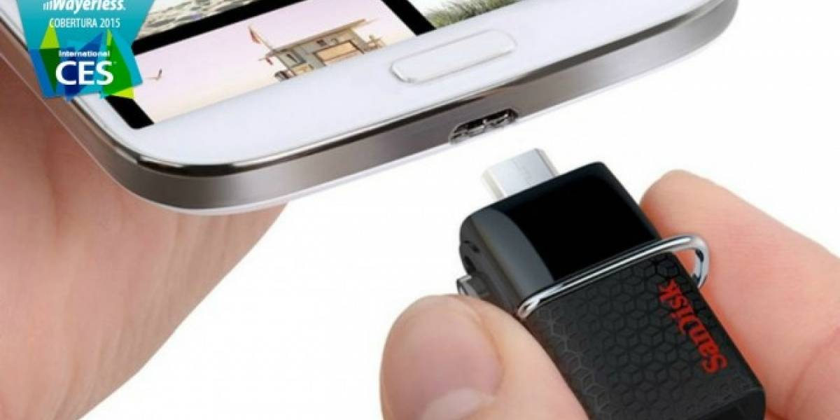SanDisk revela memoria USB que se conecta directamente a un smartphone o tablet #CES2015
