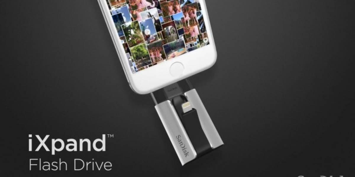 SanDisk iXpand, un pendrive con puerto Lightning para aumentar la capacidad del iPhone