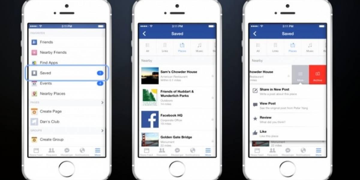 Facebook anuncia Save on Facebook, para guardar contenido y verlo más tarde