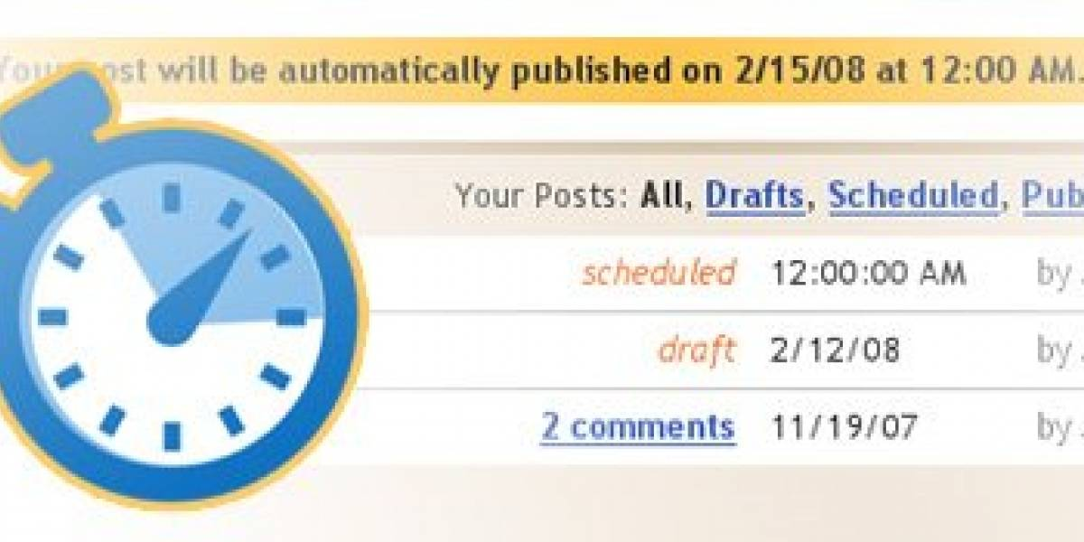 Blogger ahora permite publicar a futuro