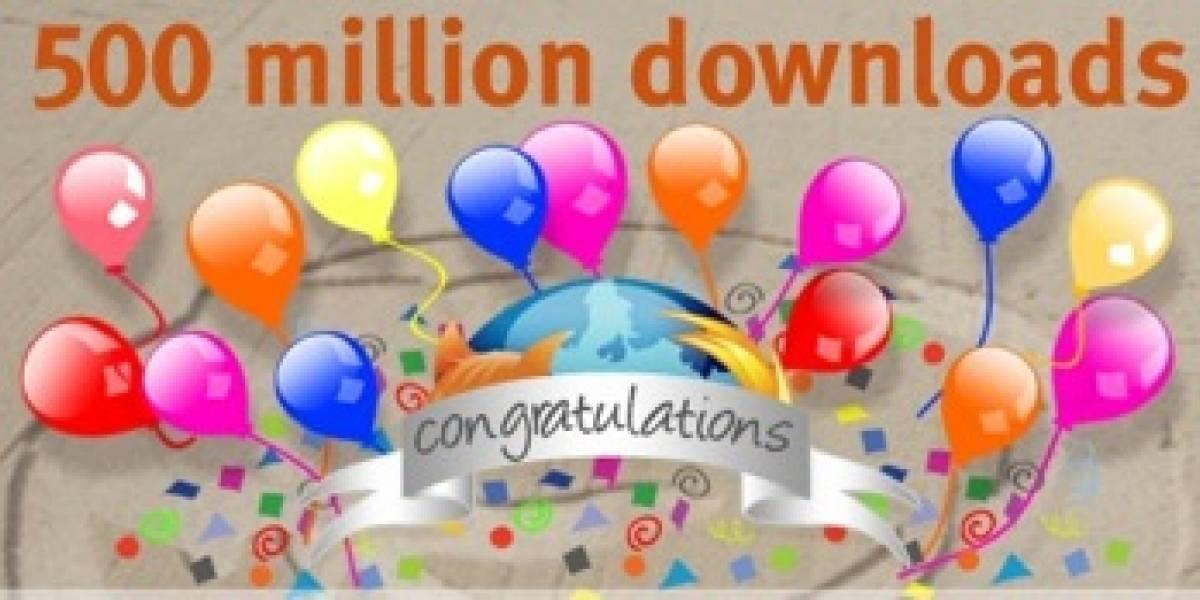 Firefox a punto de llegar a las 500 Millones de descargas