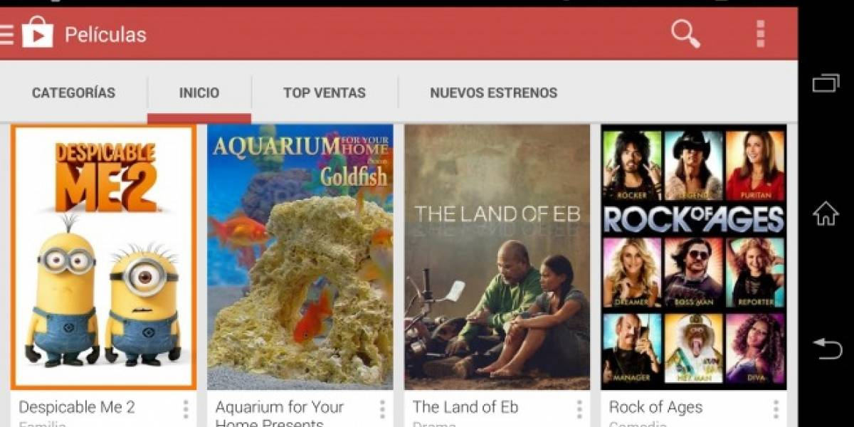 Play Movies ahora disponible en Google Play Store de Chile