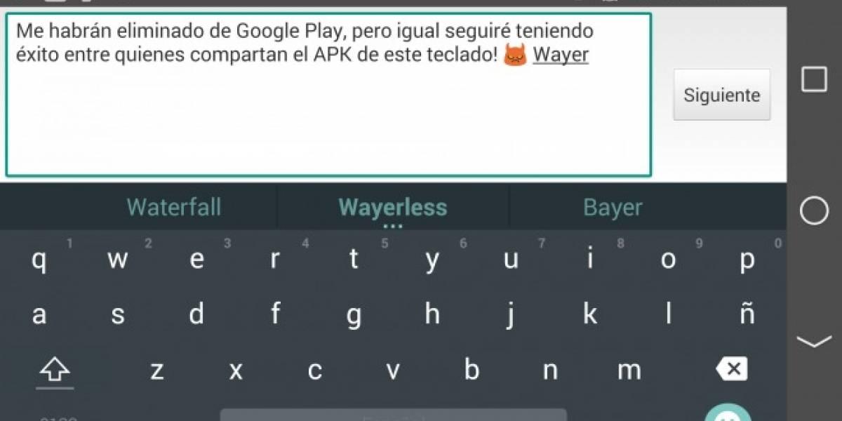Google retira Teclado Android L de la Play Store