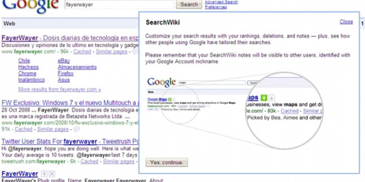 Google lanza SearchWiki