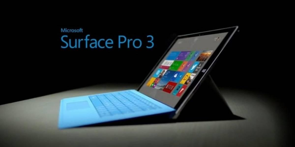 Según Microsoft la Surface Pro 3 es la tableta Surface que más rápido se ha vendido