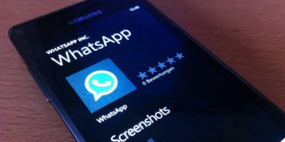 WhatsApp vuelve a estar disponible para Windows Phone [Actualizado]