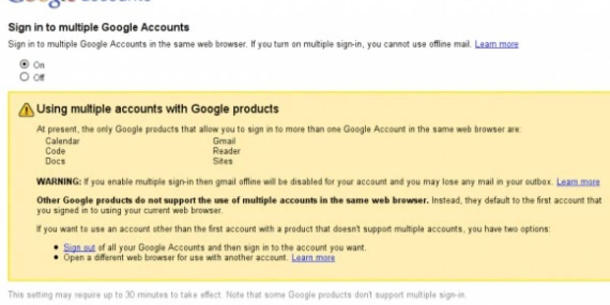 Google prueba el acceso a sus servicios utilizando varias cuentas