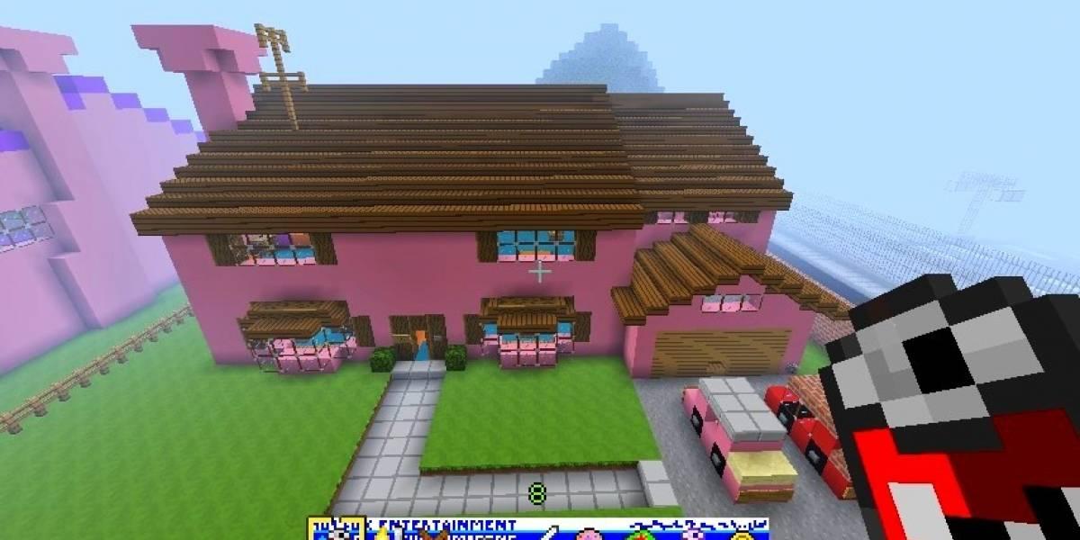 La intro de Los Simpsons, versión Minecraft