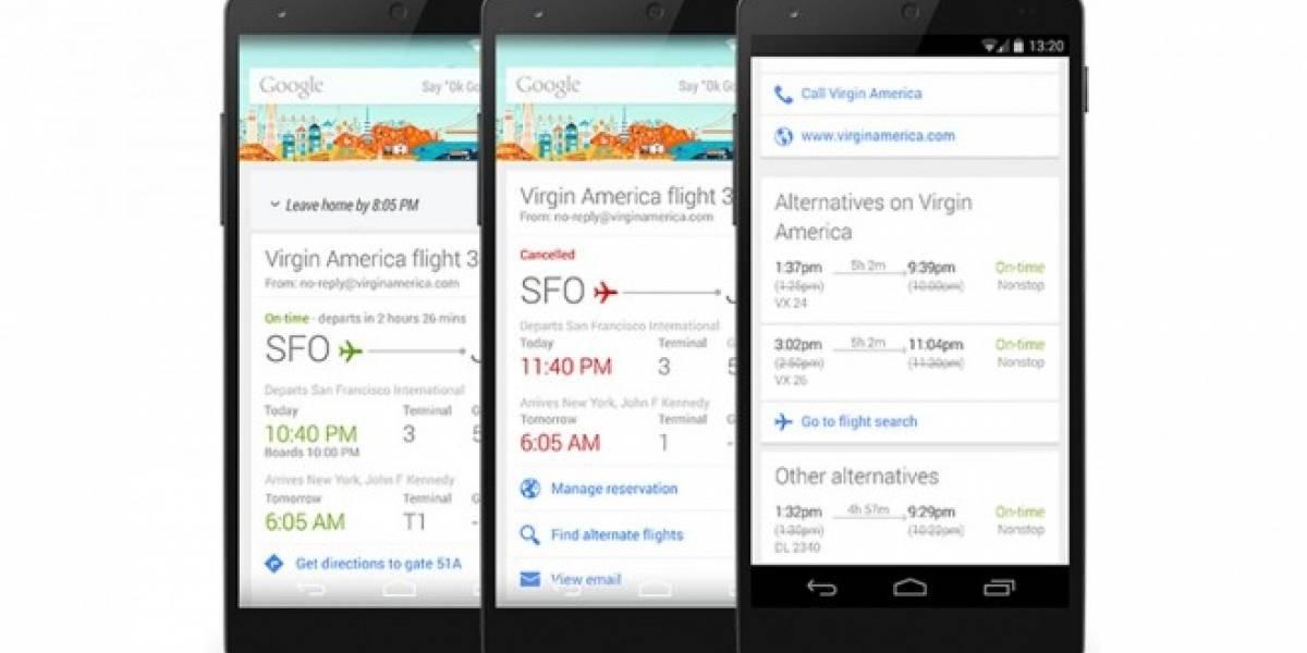 Google Now te ayudará a encontrar nuevos vuelos si perdiste o cancelaron tu reserva