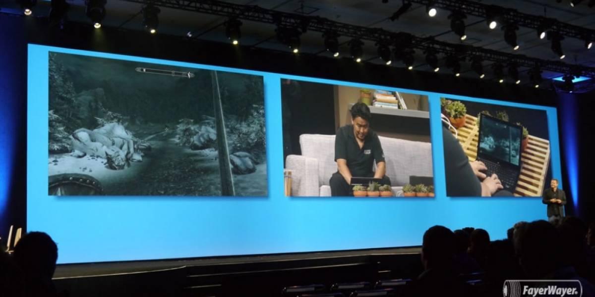 Así se jugaría Skyrim usando una notebook con pantalla táctil