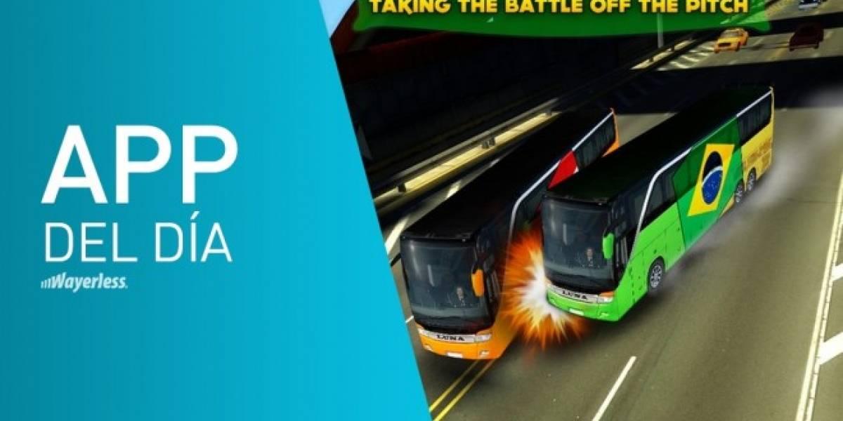 Soccer Team Bus Battle Brazil 2014, aprovechando la fiebre mundialera [App del día]