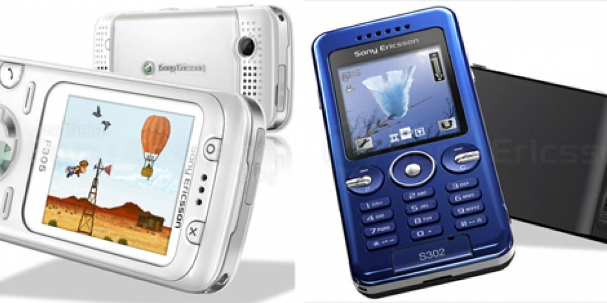 Sony Ericsson F305 y S302, bonitos por fuera pobres por dentro