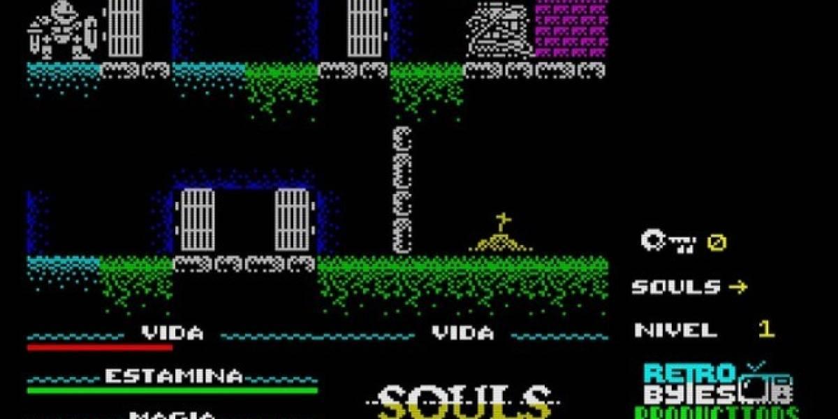 Souls es un demake de Dark Souls para Spectrum