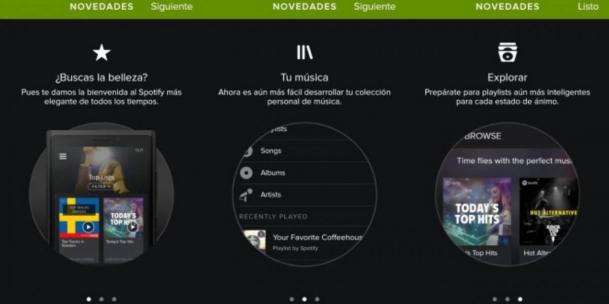 Spotify por fin rediseña su versión para Windows Phone