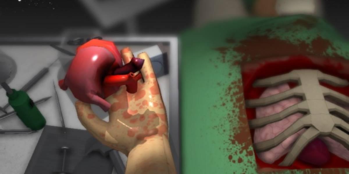 Realiza un trasplante de corazón con Surgeon Simulator 2013