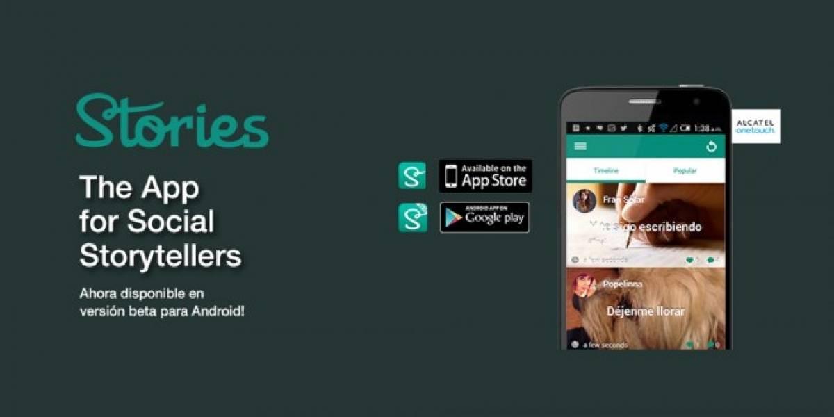 Stories, la red social chilena para escritores sociales, lanza su versión para Android
