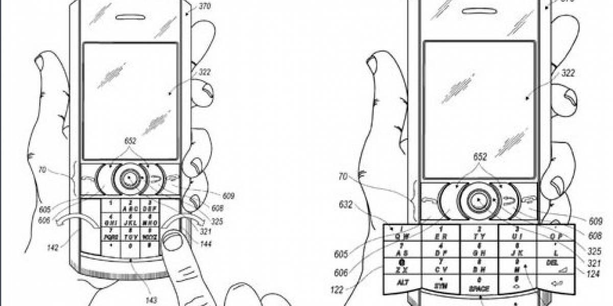 RIM Patenta teclado SureType plegable