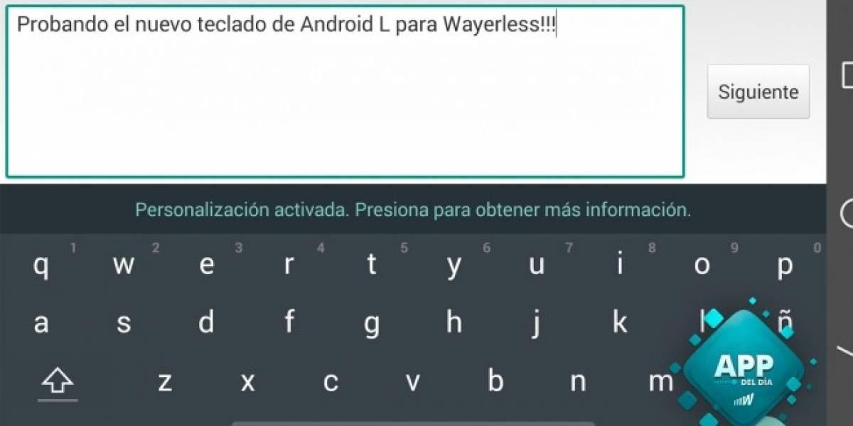 Instala el nuevo teclado de Android L [App del día]