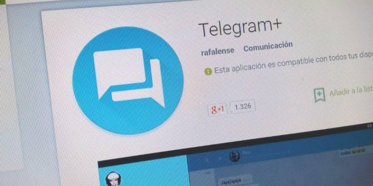 Telegram+ regresa a la Play Store, esta vez para siempre