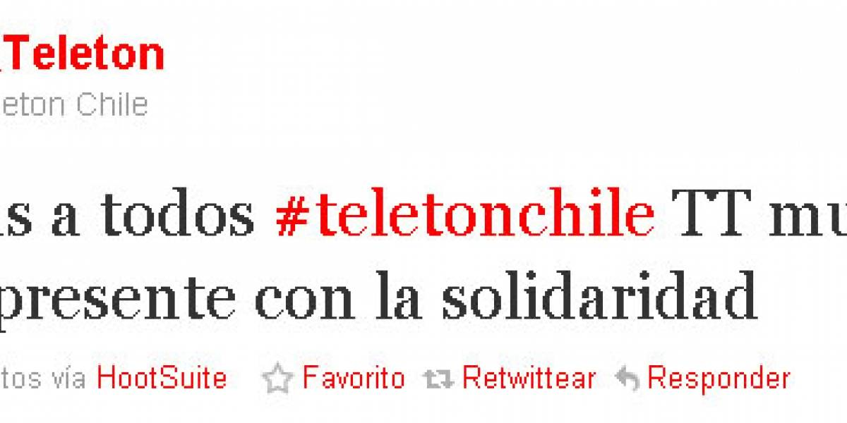 #Teletonchile es Trending Topic mundial