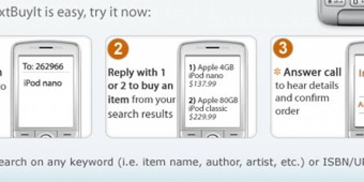 Amazon presenta TextBuyit, comprando vía SMS