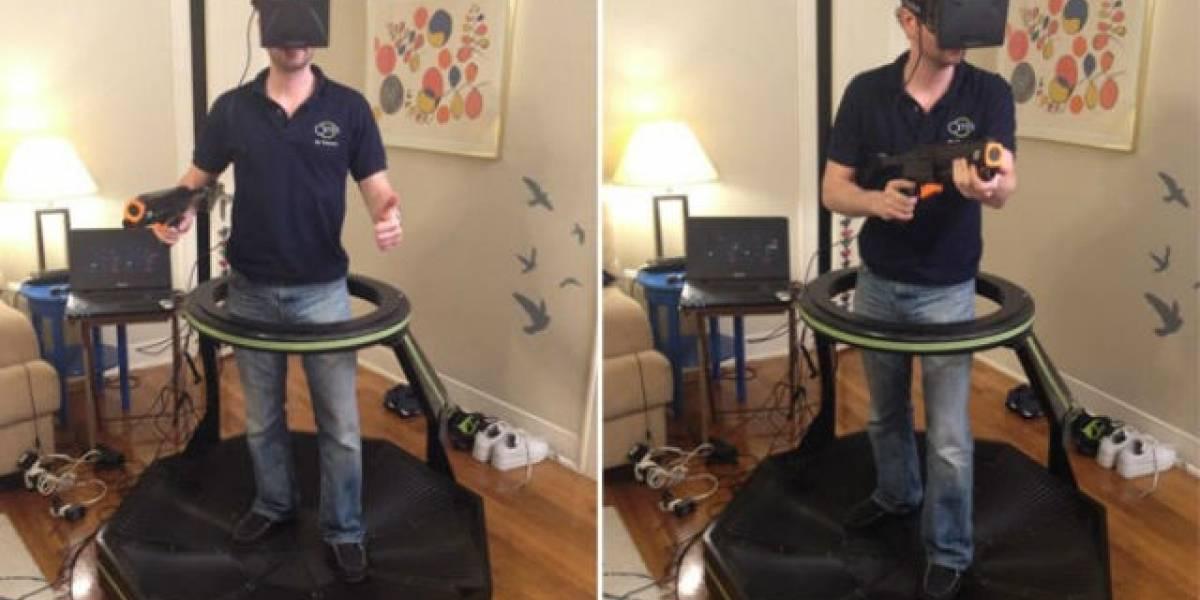 Vean cómo se juega Team Fortress 2 con el Oculus Rift y una caminadora omnidireccional