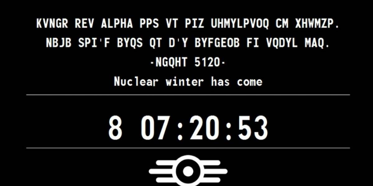Sitio teaser de Fallout sigue agregando mensajes en clave
