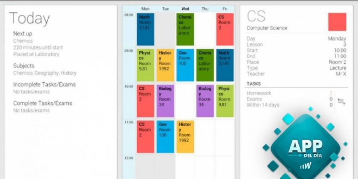 Timetable es el mejor compañero y asistente de un estudiante [App del día]