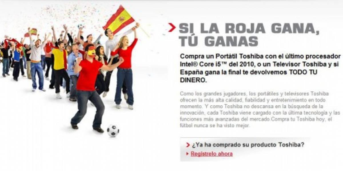 Toshiba deberá reembolsar a sus clientes por victoria de España en el Mundial