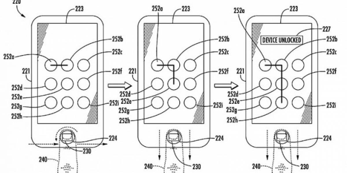 Apple solicita patente de combinación de Touch ID con el patrón de desbloqueo