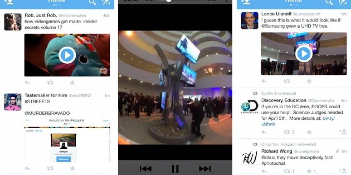 Twitter ahora permite visualizar videos desde su aplicación móvil
