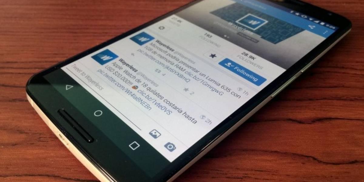 Twitter para Android se actualiza para que veas los tweets que te perdiste