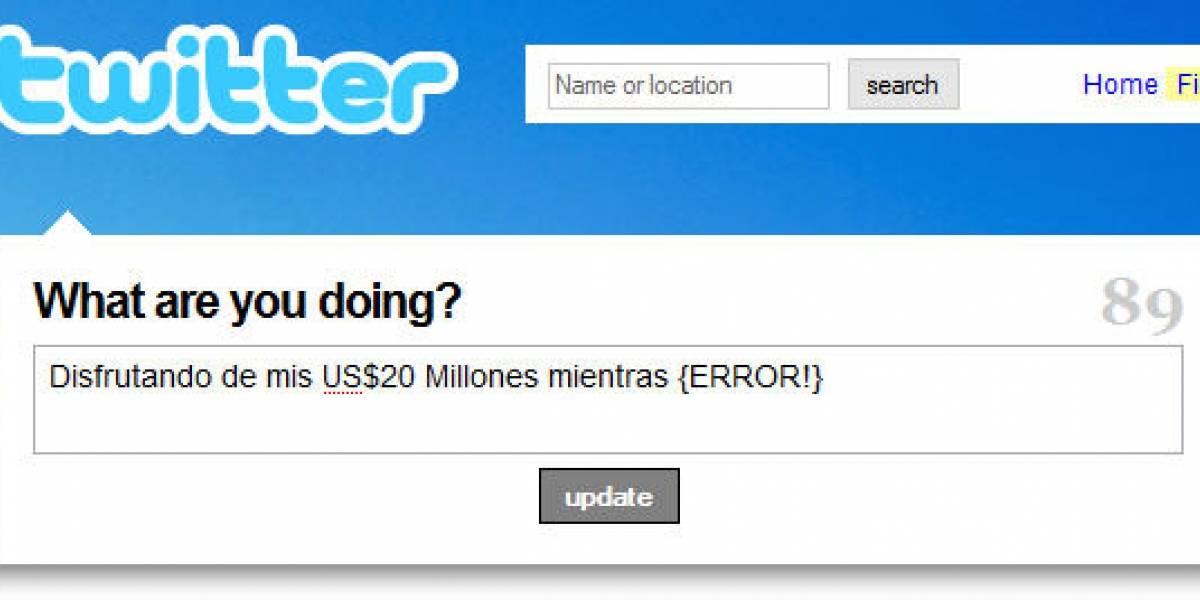 Twitter recibe US$20 Millones, pero sigue con problemas