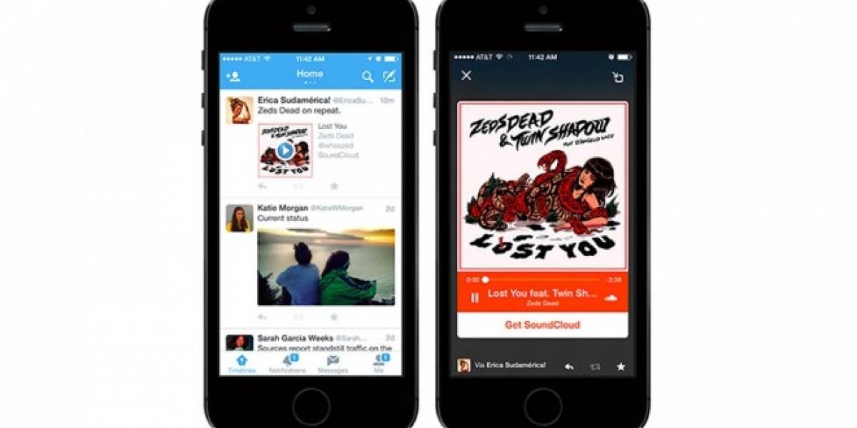 Twitter ahora nos permite escuchar música directamente desde nuestro timeline