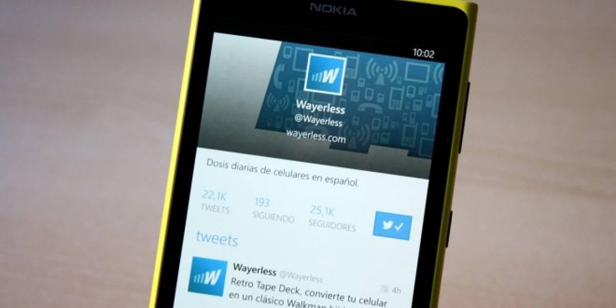 Twitter para Windows Phone se actualiza con necesarias mejoras