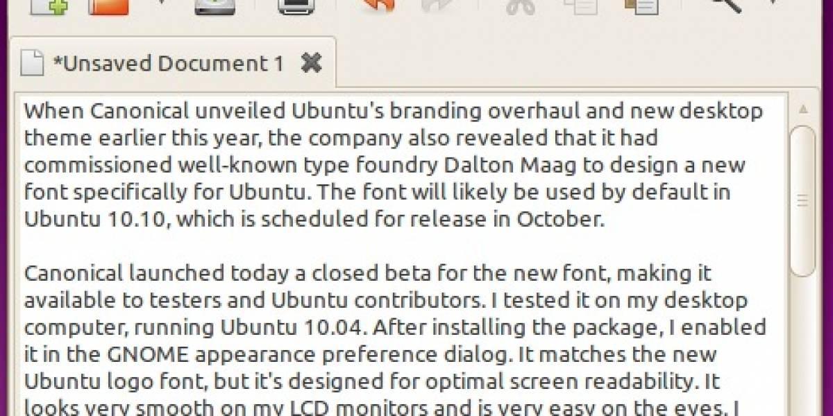 Primer vistazo a las nuevas fuentes de Ubuntu