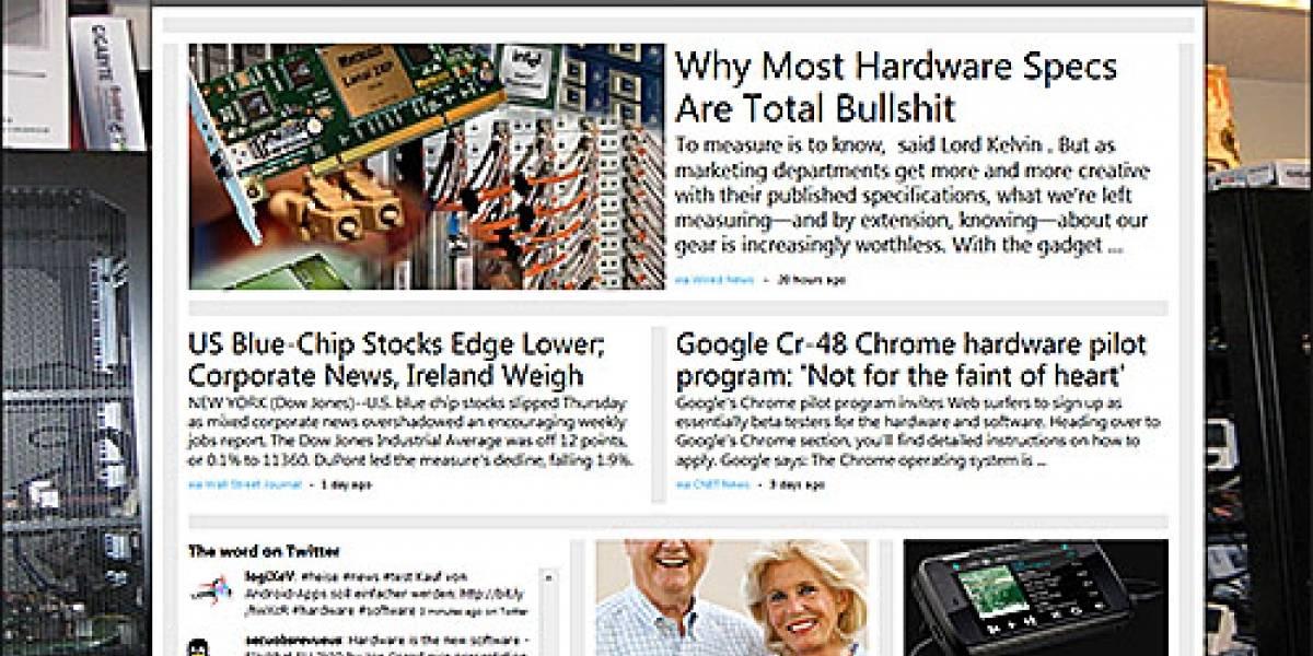 Microsoft Montage: Deja que la Web cree tu página