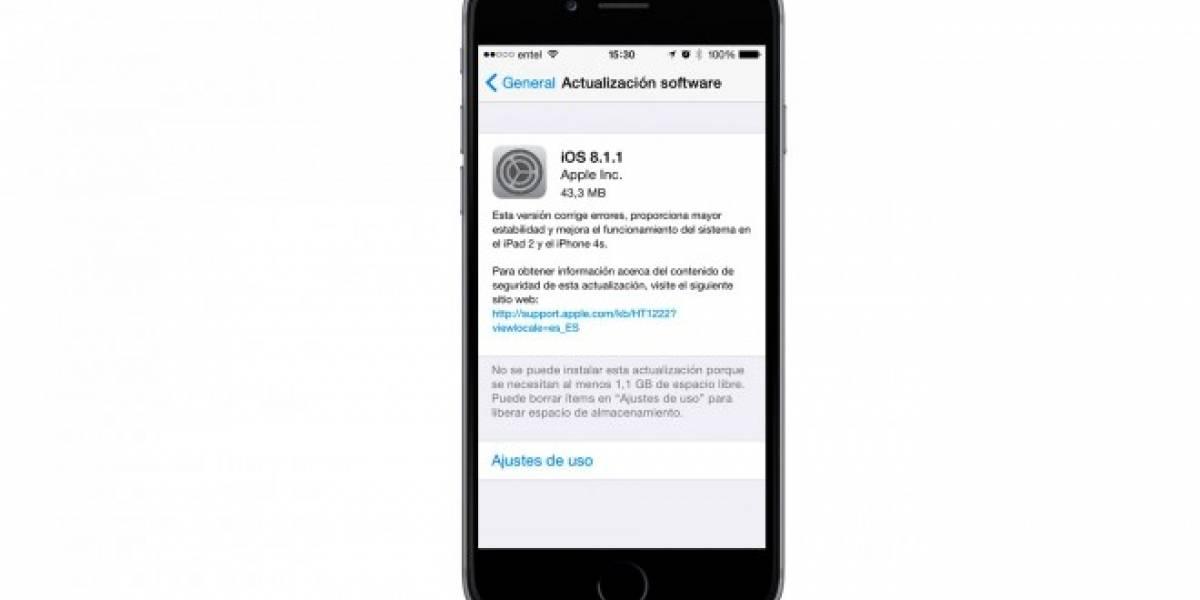 Apple comienza a actualizar sus dispositivos a iOS 8.1.1