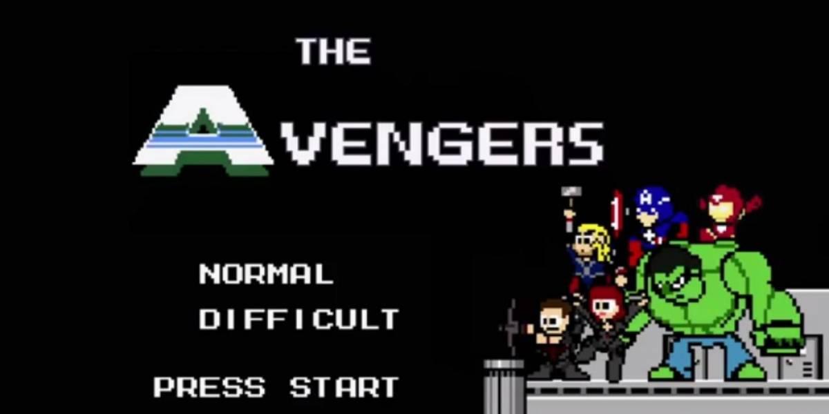 Así se vería la película de Avengers como juego de 8-bit