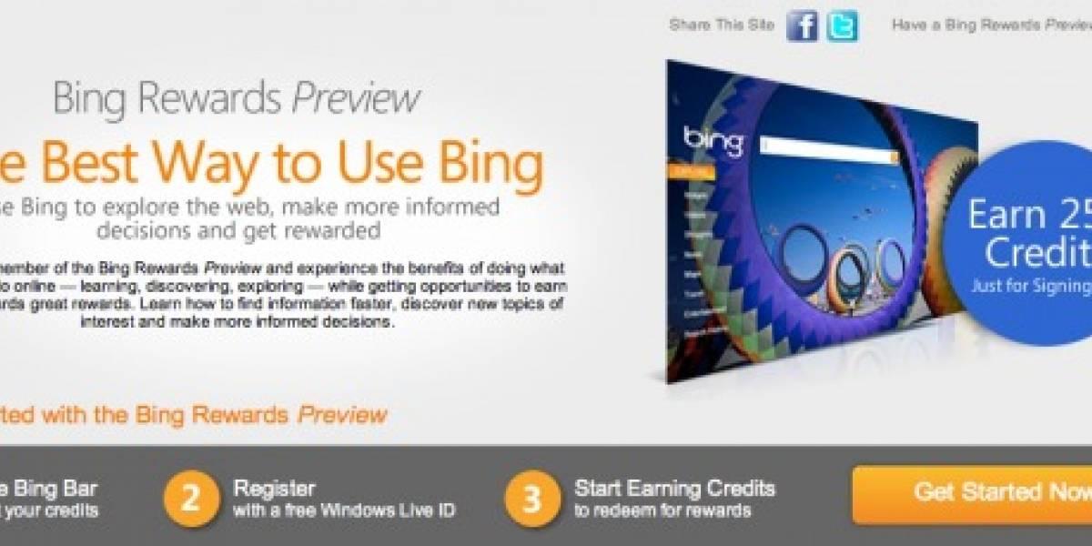 Bing te premiará por usar Bing