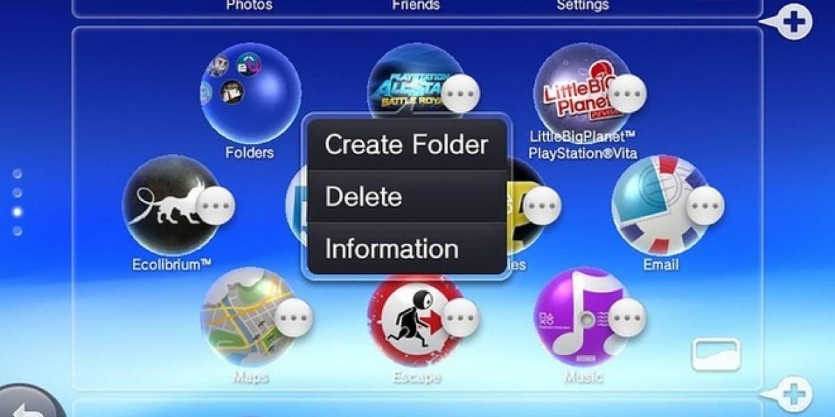 La PlayStation Vita se actualiza a su versión 2.10